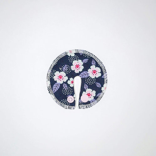 Stomie Patch - Marine Fleurs Blanches