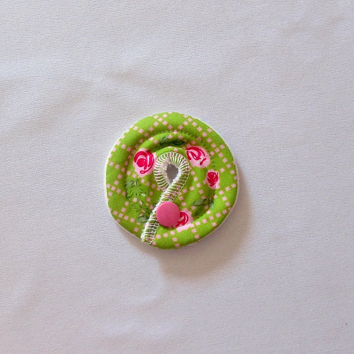 Petit Stomie Patch - Roses sur vert