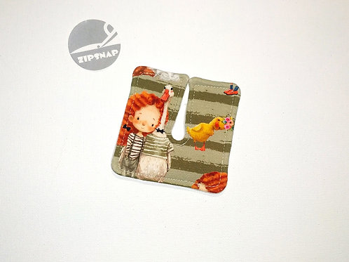 Tracheo-patch -  PETITE FILLE ROUSSE