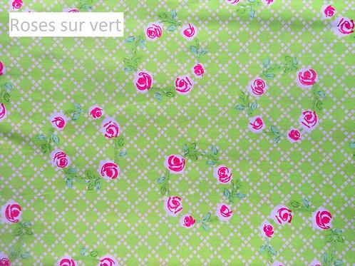 Stomie Patch - Roses sur Vert