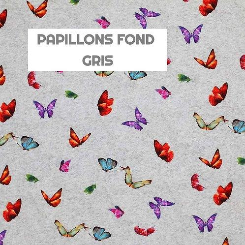 Body gilet - PAPILLONS FOND GRIS