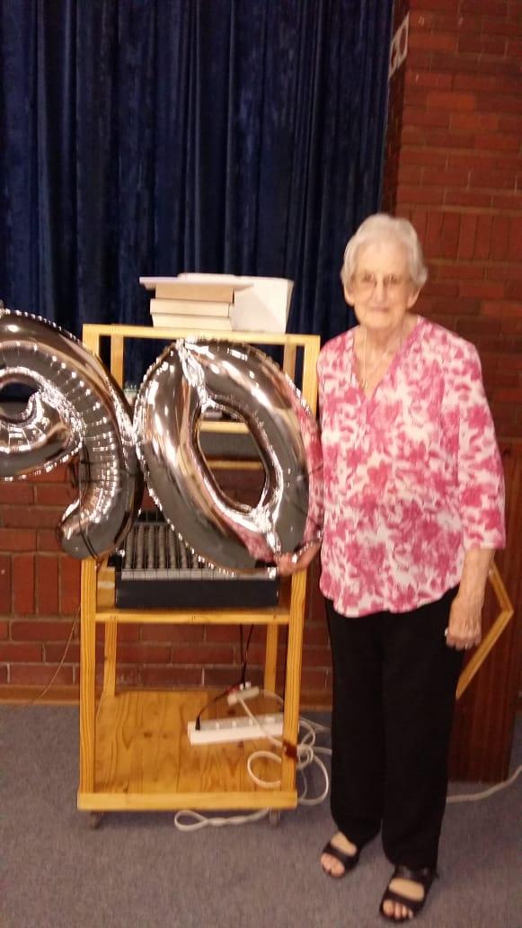 Joan van Wyk's 90th