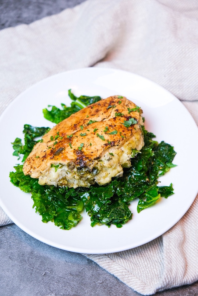 Parmesan Stuffed Chicken