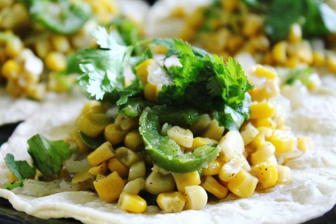 Roasted Corn Mini Tostadas