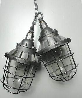 Industrial enamel lightshade