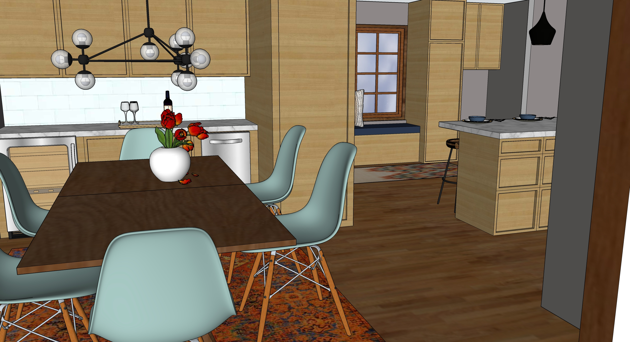kk kitchen 3 dining render