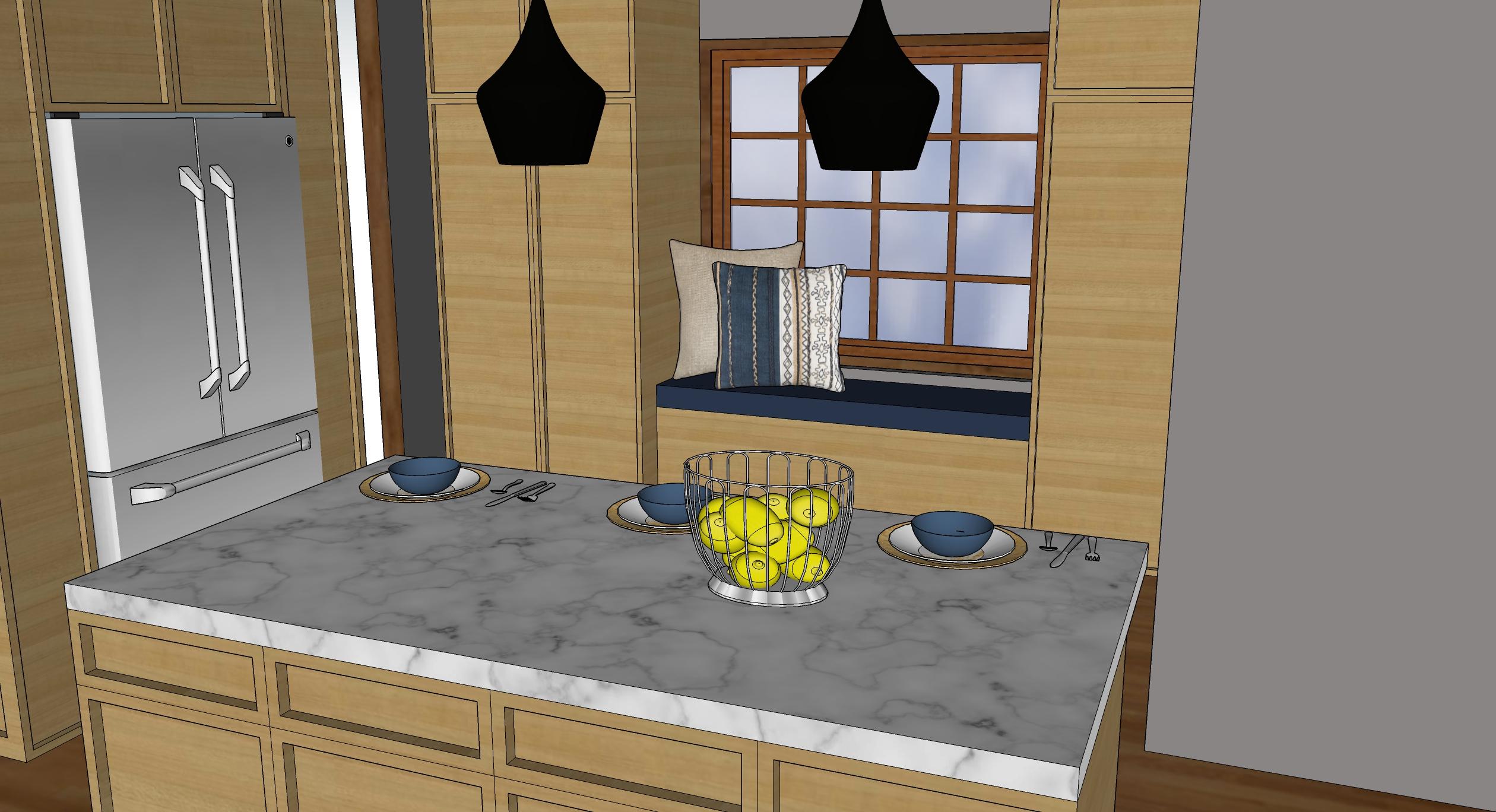 kk kitchen bench seat render