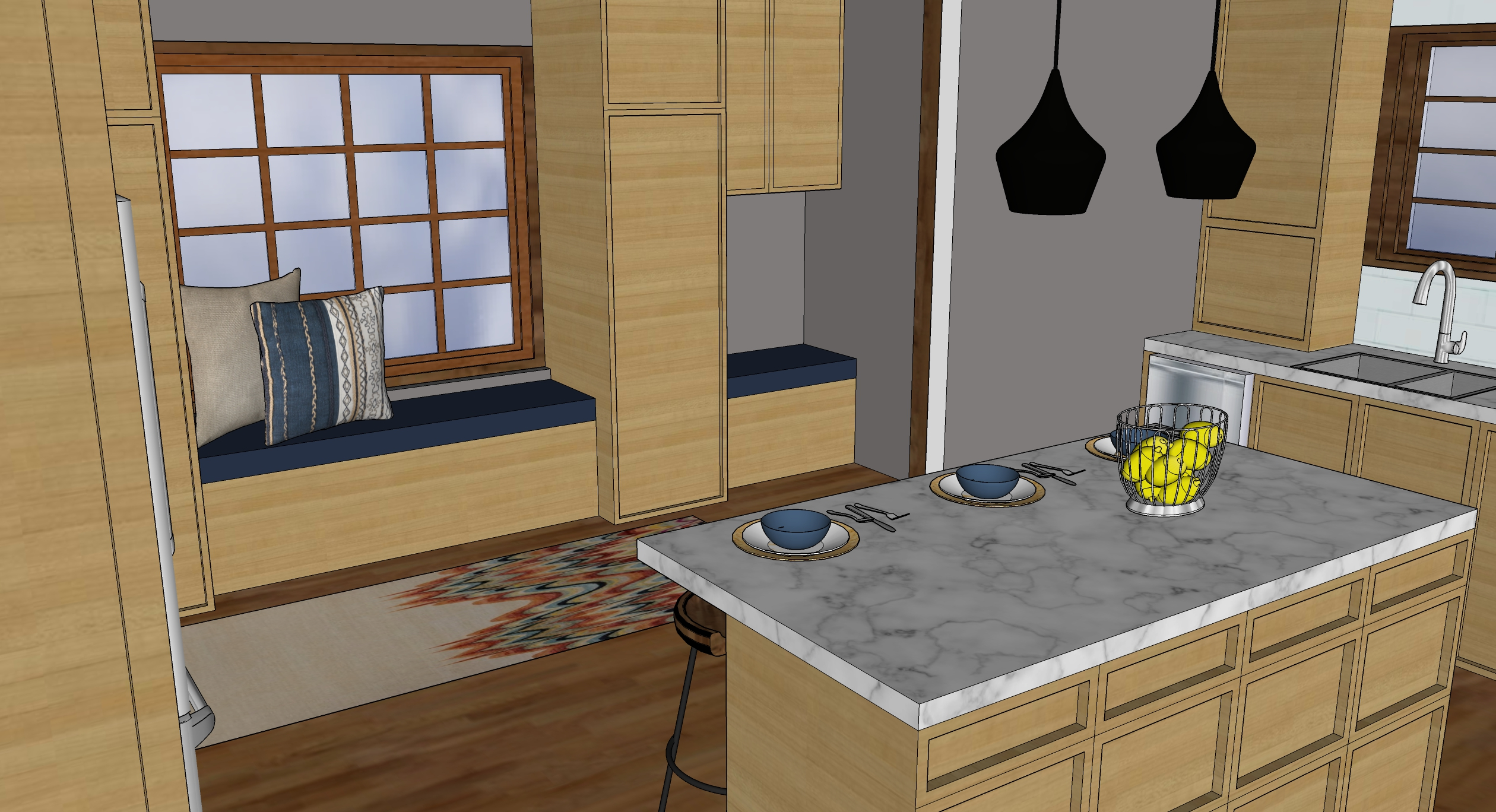 kk kitchen island render
