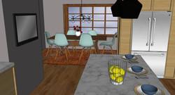 kk kitchen 3 island to kitchen render