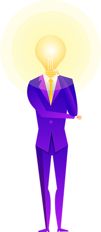 Man, enlightened, suit, illustration