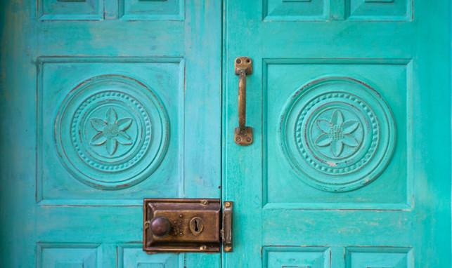Your Dream Bungalow - Restored Antique Door.