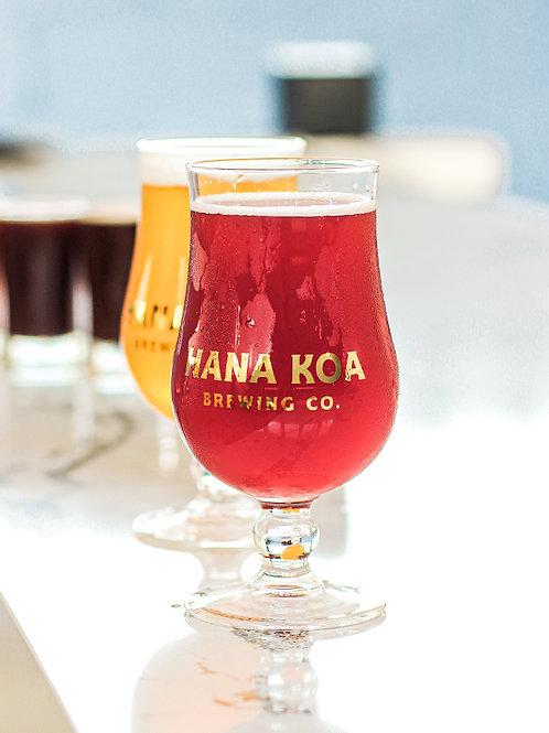 Hana Koa Gold Logo Glass