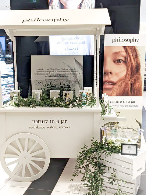 Our Cart for Philosophy at Sephora Downtown Montreal
