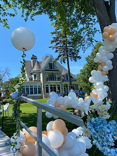 Tree Garland for a Proposal Boat Party