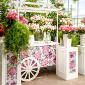 Floral Cart with Custom Print