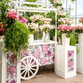Panier floral avec impression personnalisée