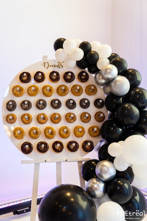 Donut Bar (ballons N&B)