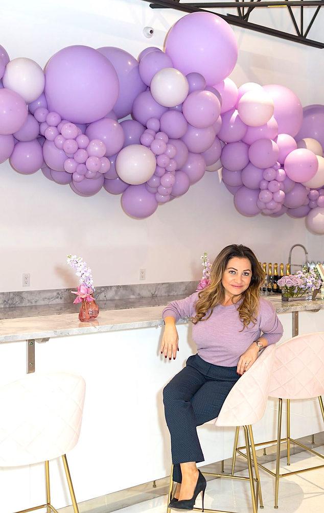Lilac Balloon Garland at Maddy K Atelier
