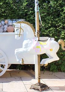 carousel horse, birthday, balloons, montreal