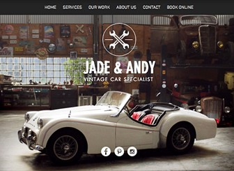 Vintage Car Garage Website Template Wix