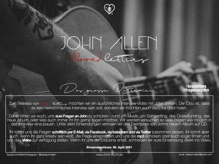 (love) letters Promo - Eure Fragen an John