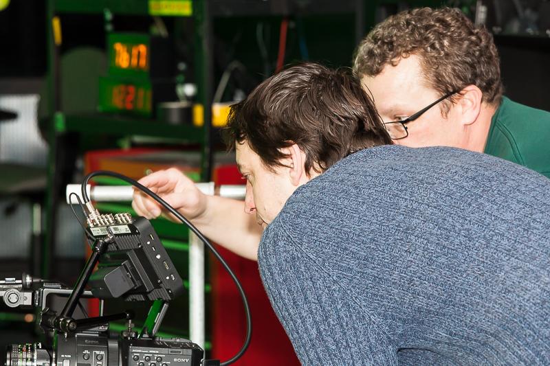 DP Evan Gandy converses with Brian