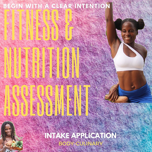 Fitness & Nutrition Assessment Intake Application