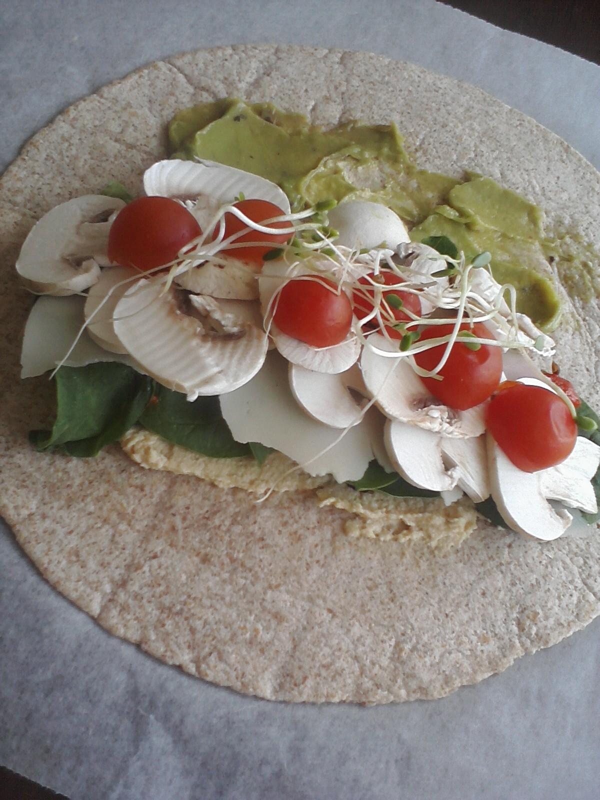 Fresh Vegetable Wraps