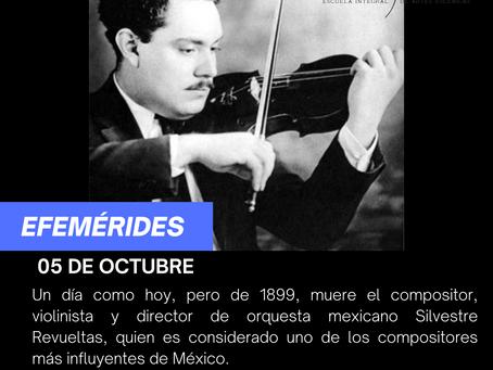Aniversario Luctuoso del compositor Silvestre Revueltas Sánchez