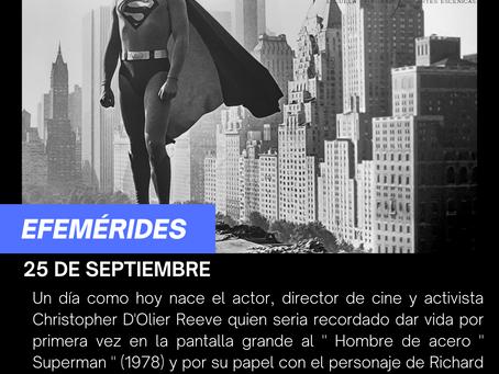 """Aniversario del natalicio de Christopher  Reeve """"El primer Superman"""""""