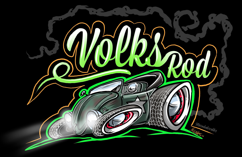 VOLKRATROD2 TSHIRT -black