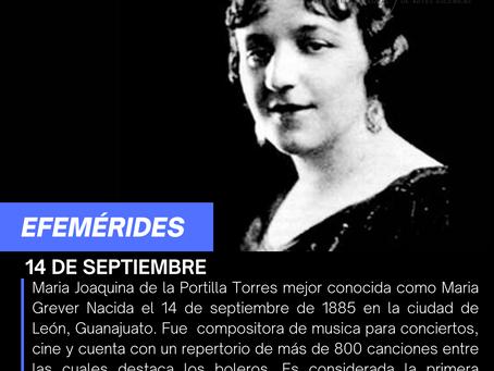 Aniversario del natalicio de la compositora María Grever