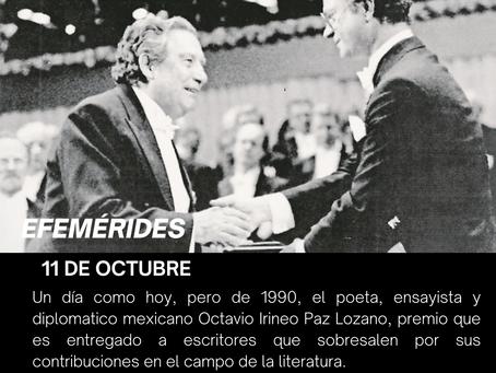 Octavio paz es ganador del premio nobel de literatura en 1990