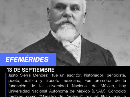 Aniversario Luctuoso del Maestro Justo Sierra Méndez