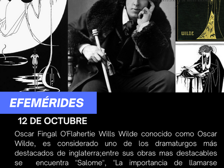 Aniversario del natalico de Oscar Wilde
