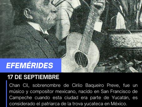Aniversario Luctuoso del musico y compositor yucateco Cirilo Baqueiro Preve