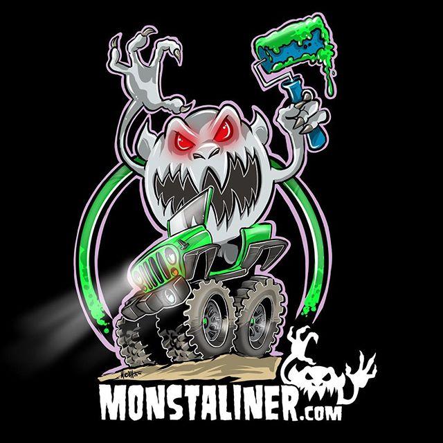 Monstaliner logo design