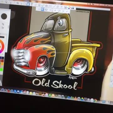 FLAMES TUTORIAL - on a 51 Chevy truck