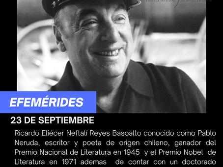 Aniversario luctuoso de Pablo Neruda
