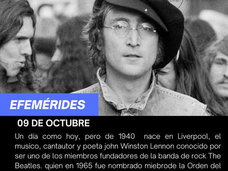 """Aniversario del natalicio del líder de la banda  de  rock """"The Beatles"""",  Jonh  Lennon"""