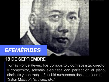 Aniversario del Natalicio de Tomas Ponce Reyes