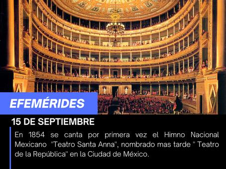 Se canta por primera vez hace 167 años el Himno nacional Mexicano
