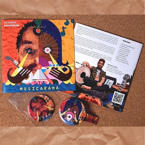 COMBO 1: Pencard Musicarama + Encarte Musicarama + EP Maré da Sorte