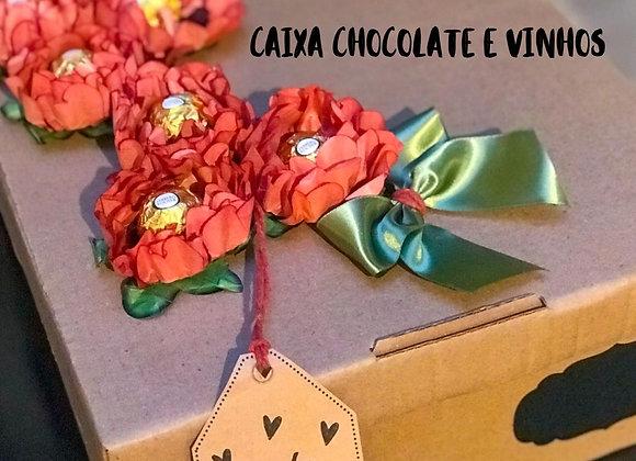 CAIXA CHOCOLATE E VINHO (imagem ilustrativa)