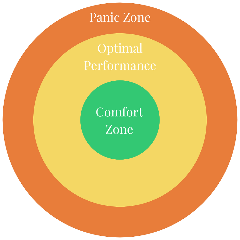 Comfort Zone, Karl Rohnke, Panic Zone, Optimal Performance, Stretch Zone