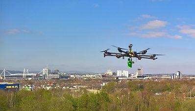 DTAMethane Gas Survey Drone in action