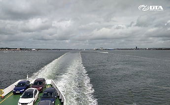 Drone Tech Aerospace team leaving Southampton en-route to project on Isle of Wight, Hampshire