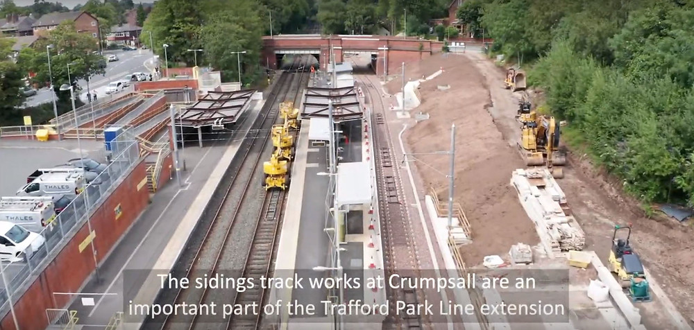 Transport for Greater Manchester construction project drone video - Drone Tech Aerospace