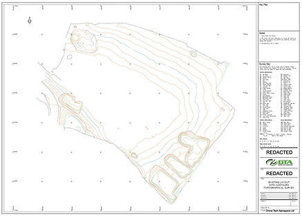 2D Contour Drawing Example - generated from a drone photogrammetry topographical land survey