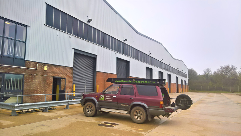13,000 square metre warehouse drone inspection and survey, Swindon